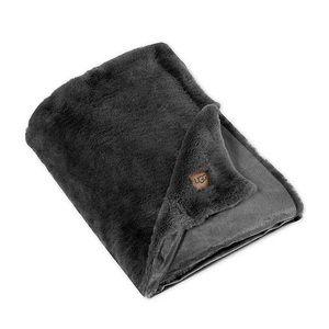 UGG Charcoal Grey Polar Throw Blanket 50 x 70in